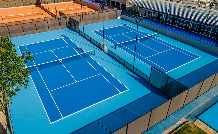 Locação de Quadra de Tênis. Quadra Rápida